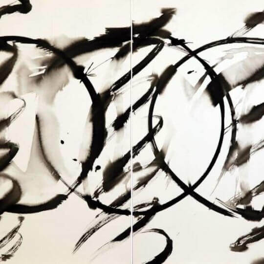 Untitled, c.1980, ink on ARCHES® paper,  diptych 600 x 600 mm