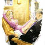 April 1997, blond in purple